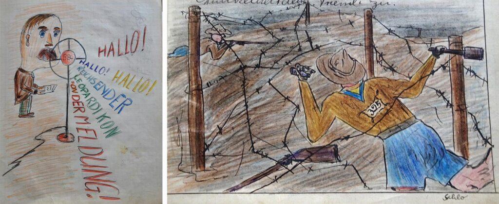 Zeichungen aus einem Gruppenbuch