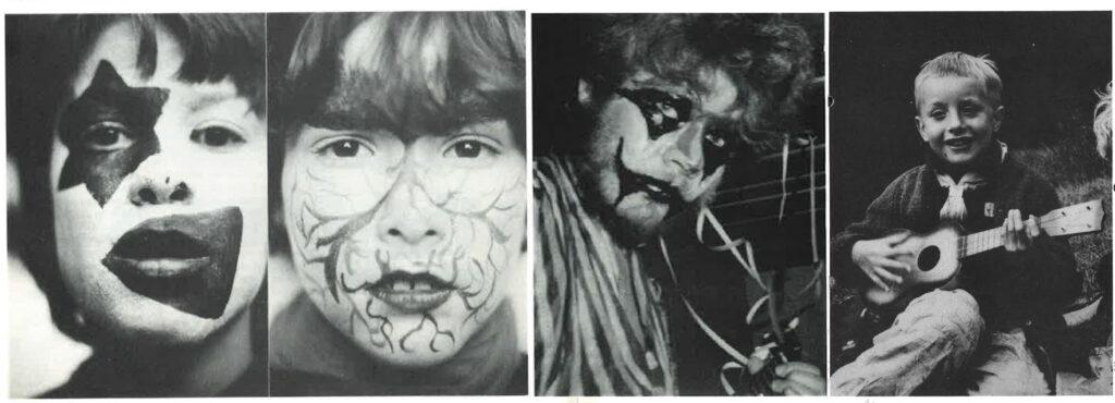 phantasievoll geschminkte Gesichter
