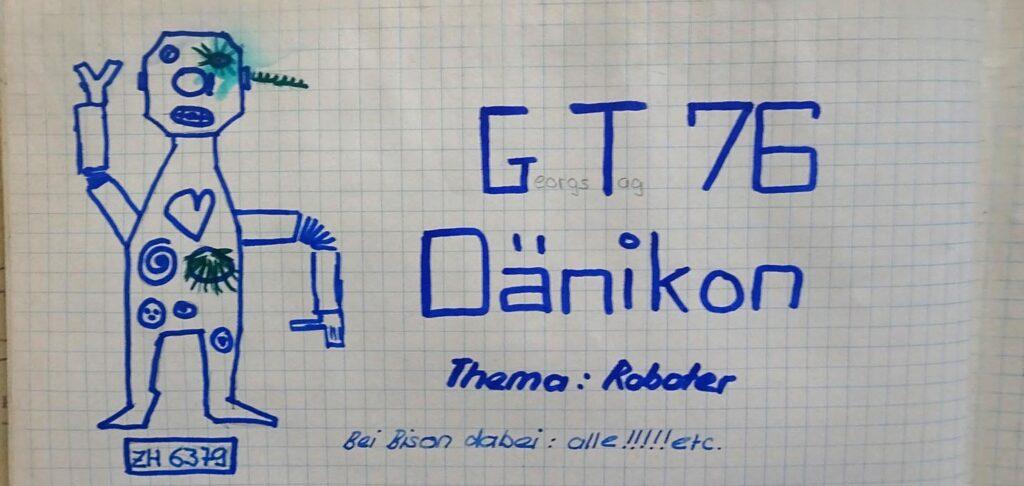 Auszug aus Gruppenbuch mit Roboter